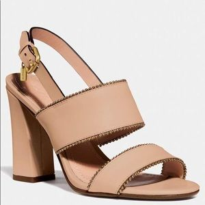 Coach Women's Rylie Beadchain Dress Sandals - Nude